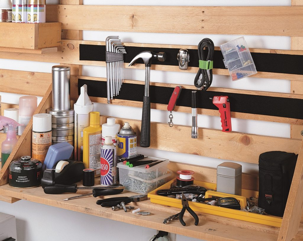 Hook and Loop Tool Rack